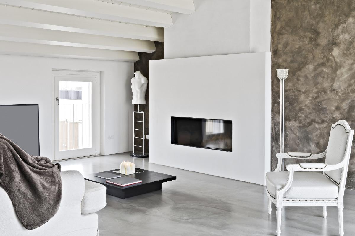 betonlook stucwerk woonkamer