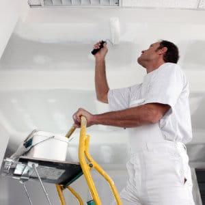 plafond stucen en schilderen